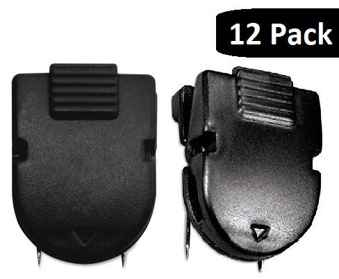 1InTheOffice Cubicle Clips, Black, 12/Pack (Black) ()