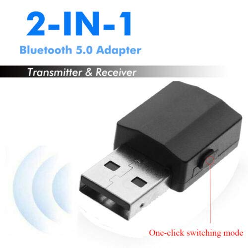 in 1 Bluetooth 5.0 Adapter USB Transmitter Music Audio Receiver Digital Devices