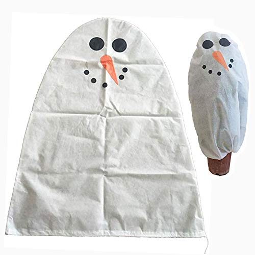 Plant Covers Freeze Protection Tree Proctectors Winter Warm Plant Frost Protection Cover Non-Woven Xmas Tree Storage Bag Plant Wrap Blanket for Outdoor Indoor Garden Home Backyard (Carrot Snowman)