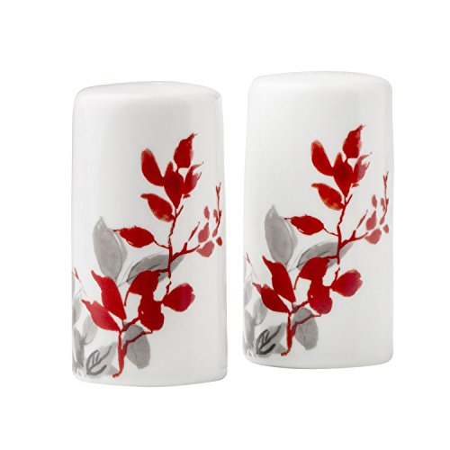 Corelle Salt & Pepper Set Coordinates w/ Corelle Kyoto Leaves