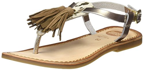 Gioseppo Bovina, Sandalias Para Niñas Multicolor (Blanco/Dorado)