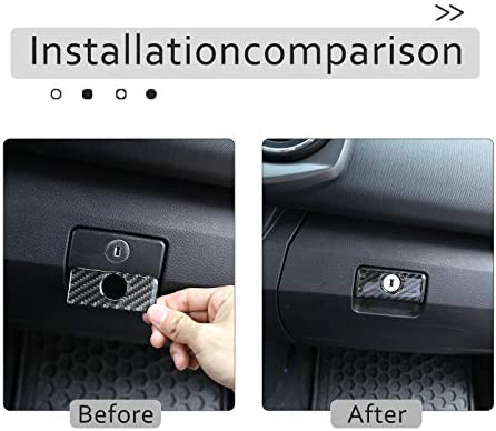 TongSheng for Toyota Tacoma 2015 2016 2017 2018 2019 2020 Soft Carbon Fiber 3D Sticker Center Control Passenger Side Dashboard Panel Cover Trim Glove Box Cover