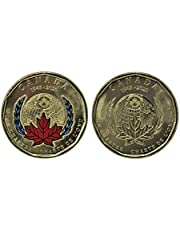 2020 $1 Coloured & Non-Coloured Loonie 75th Anniversary of The Signing of The United Nations Charter (2 Coins)