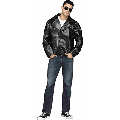 50s Biker Faux Leather Costume Jacket