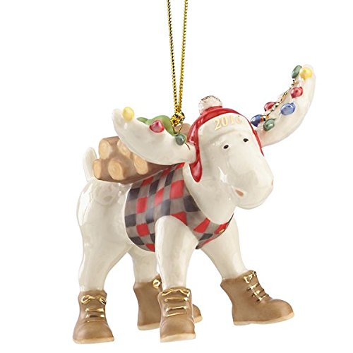 Lenox 2016 Marcel the Lumberjack Moose Ornament