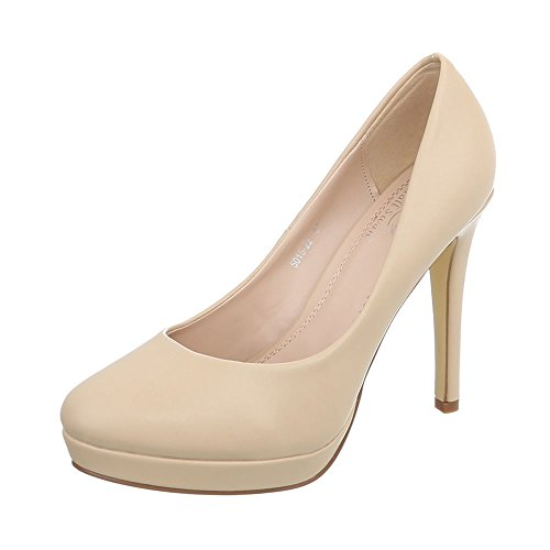 22 Aguja Tacones 5015 Ital Tacon de Mujer beige Zapatos Tacón Zapatos de Design Para Altos qzR6v1q