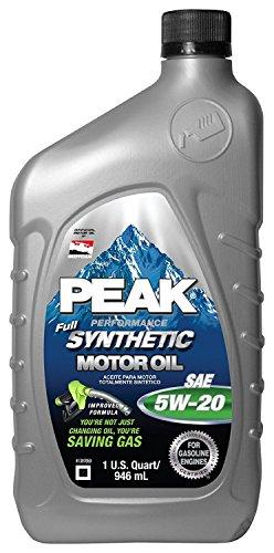 P2ms576 Peak Full Syn 5w20 Motor Oil Quart (112911) -  United Automotive