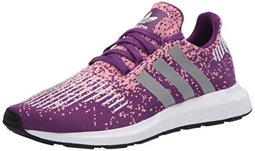 adidas Originals Women's Swift Run Sneaker, Glory Purple/Silver Met./Glory Pink, 11 M US