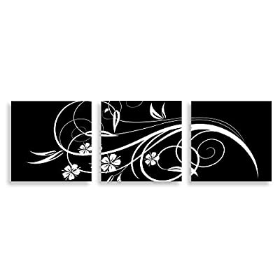 3 Panel Black and White Painting Home Wall for Bedroom Living Room Paintings Framed x3 Panels, That You Will Love, Gorgeous Handicraft
