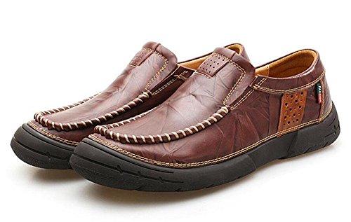 Oxford Schuhe Leder M盲nner N盲hen von Britische Schuhe M盲nner Junge Schuhe Retro 39 Schicht F眉脽e Erste M盲nner Slip On dark brown qC7OEnBw