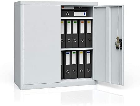 OSKAR Aktenschrank Büroschrank Werkzeugschrank Metallschrank Universal Stahl Schrank (85 x 90 x 39 cm)