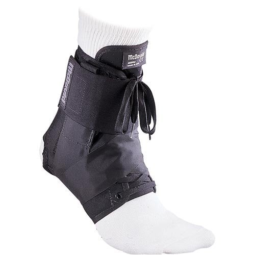 McDavid 195 Ultralight Ankle Brace with Figure-8 Strap, Black, ()