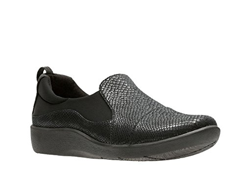 CLARKS Women's CloudSteppers Sillian Paz Slip-on Loafer Black Snake footlocker finishline clearance amazon official site clearance original cheap sale perfect W6Q6Qvbb