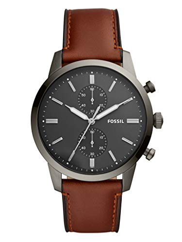 Fossil Mens Chronograph Quartz Watch with Leather Strap FS5522 (Mens Chronograph Leather Strap Watch)