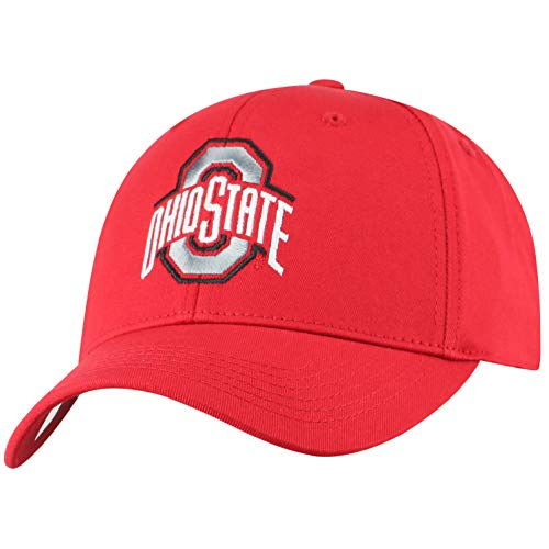NCAA Ohio State Buckeyes Men's Fitted Relaxed Fit Team Icon Hat, Red - State Fitted Hat