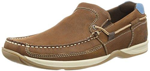 Cuero Hombre Marrón Sin Cordones Zapatos Marrón Bowker Chatham de Marine Tan x7gq0YnFPw