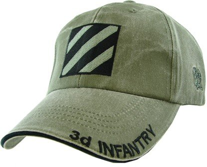 MilitaryBest US Army 3rd Infantry Dvision OD Green Cap