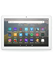 """Fire HD 8 tablet, 8"""" HD display, 32 GB, latest model (2020 release), designed for portable entertainment, White"""