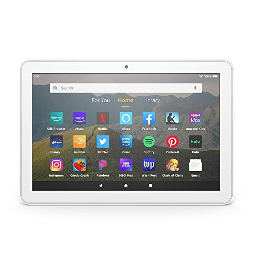 """Certified Refurbished Fire HD 8 tablet, 8"""" HD display, 32 GB, designed for portable entertainment, White"""