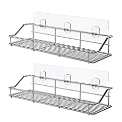 ODesign, Trustworthy Metal Products Brand for Your Home! ODesign Adhesive Bathroom Shelf, also can be used as a shower caddy, kitchen spice rack and organizer!No drilling, rustproof and detachable! Size: Adhesive:  11.81 x 2.75 inchesShelf:  ...
