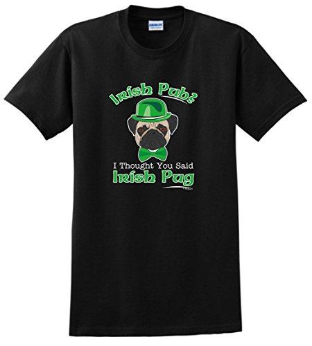St Patricks Day Decorations Irish Pub Thought Said Pug Funny St Patricks Dog T-shirt Small Black Picture