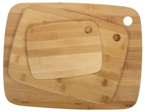 Core Bamboo Classic Cutting Board Combo Pack, Natural, Small/Medium/Large