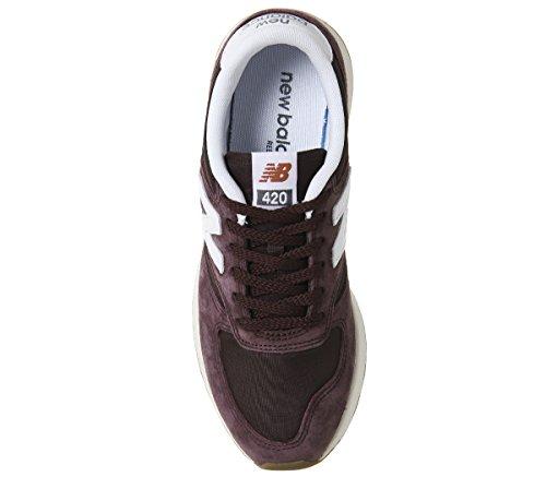 New Balance - BUTY 420, Sneaker Alte Uomo Rosso Vinaccia