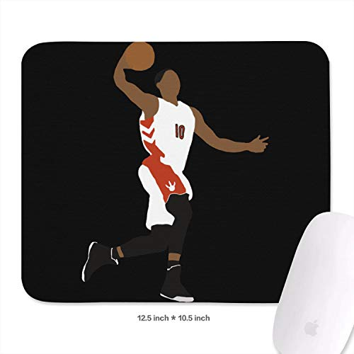 10.5X12.5 (inch) Cool Pattern Mouse Pad Sport Theme Style Basketball Mouse Mat Gaming Comfortable Rubber Base Rectangle Suitable for Computers Laptop Office Home Mousepad 27 X32.1 cm