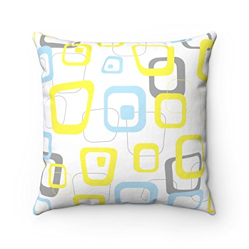 MCM Man – Mid Century Modern Accent Throw Pillow For decoration on chair, couch, sofa, love seat 14X14 16X16 18X18 20X20 Spun Polyester Square Pillows yellow baby blue grey gray white 41EnXjFzhKL