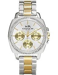 COACH Women's Boyfriend 40MM Bracelet Watch Two Tone Watch