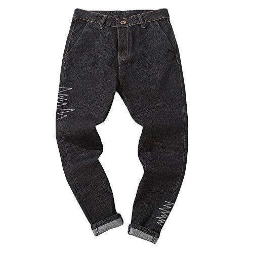 Personalità Pantaloni Hip Jeans Uomo Uomini Taglie Cotone Comodo Denim Lavoro Wqianghzi Leisure Nero Nero Hop Street Stile Vintage Comode adWc4x