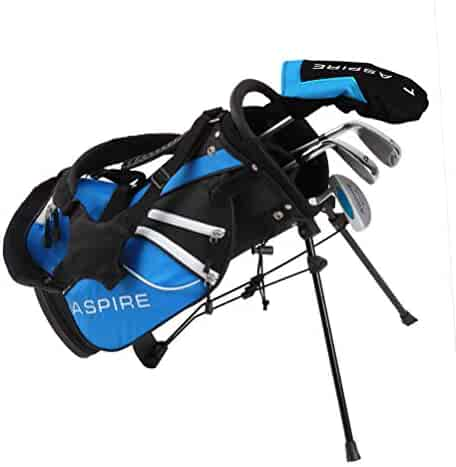 Aspire Junior Plus Complete Golf Club Set for Children Kids - 5 Age Groups Boys & Girls - Right Hand