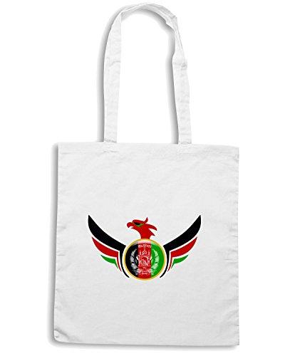 T-Shirtshock - Bolsa para la compra TM0146 afghanistan flag flag Blanco