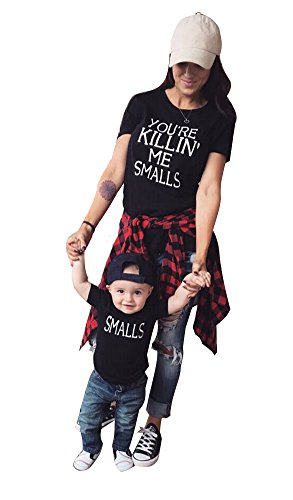 USGreatgorgeous You're Killin' Me Smalls Novelty Funny Shirts Matching Family Shirt For Mom and Baby(2-3 Years(Son only), Son) (What Is A Nice Thank You Gift)