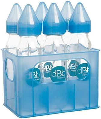dBb Remond – 177366 botella con tetinas de silicona caja y 6 biberones de vidrio translúcido azul 240 ml: Amazon.es: Bebé