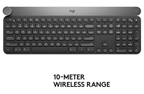 Logitech Craft Advanced Wireless Keyboard with Creative Input Dial and Backlit Keys, Dark grey and a - http://coolthings.us