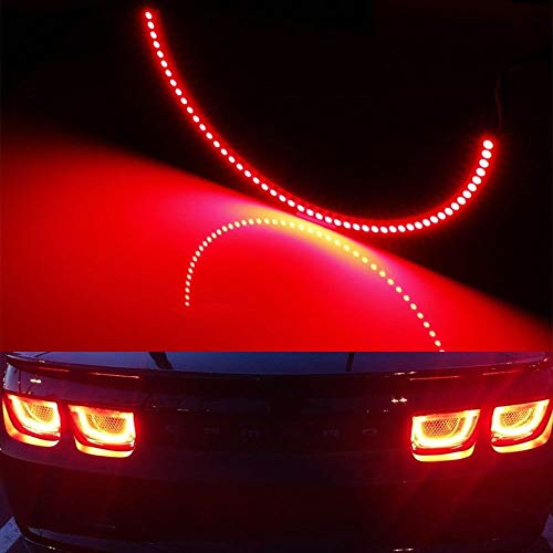 iJDMTOY (4) Red LED Afterburner Effect Taillamp Halo Rings For 10-13 Chevy Camaro