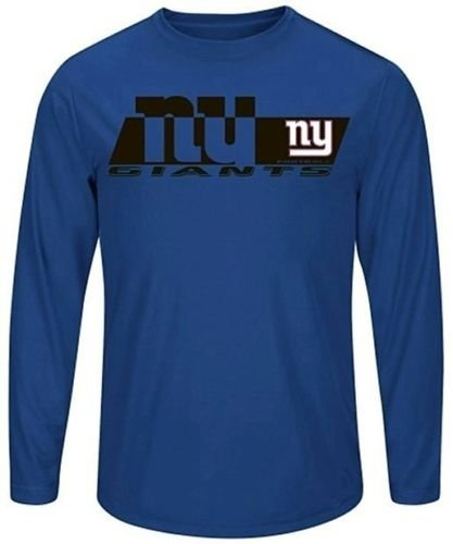(Majestic Athletic New York Giants Mens Long Sleeve Synthetic Storm Shirt Royal Big & Tall Sizes (3XT))