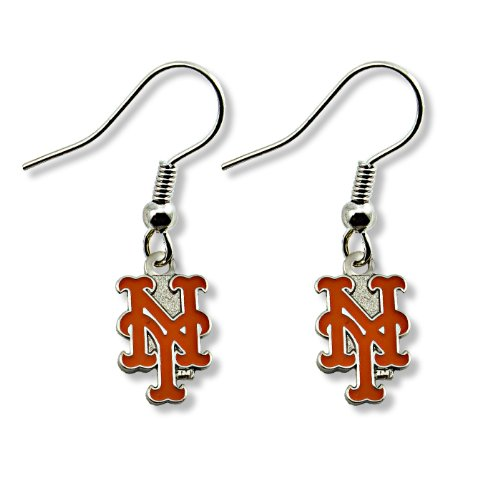 MLB New York Mets Logo Dangler Earrings