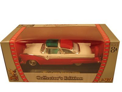 - 1955 Ford Crown Victoria Red 1/43 Diecast Car Model