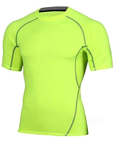 芽適合しましたアラスカazalee コンプレッションウェア スポーツシャツ ラウンドネック 半袖シャツ メンズ