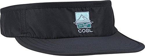 Coal Men's The Vista UPF Athletic Visor with Adjustable Webbing Closure, Black, One Size ()