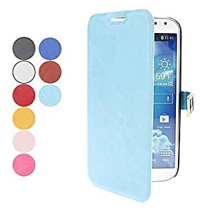 Bloutina Processing time 2 days-Fashion D Buckle PU Leather for Samsung Galaxy S4 I9500 (Assorted Colors),Light Blue