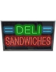 Outdoor Deli Sandwiches Neon Sign