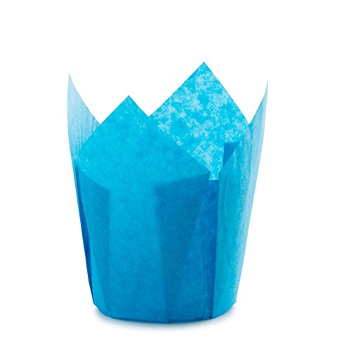 Tulip Standard Cupcake Liners Wrappers Colors (Blue, (Blue Tulip)
