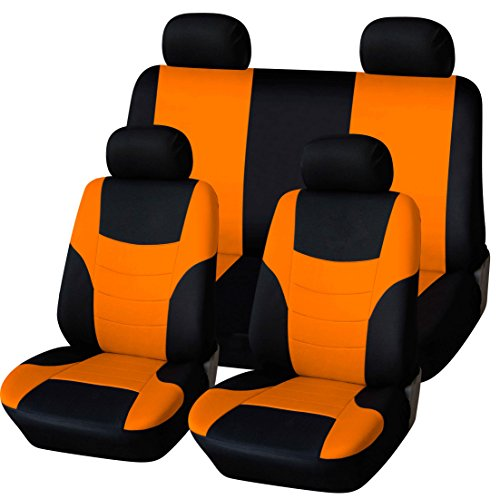 orange and blue car seats covers - 2