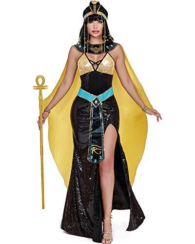 Egyptian Halloween Costumes 2019 (Dreamgirl Women's Cleopatra, Costume,)