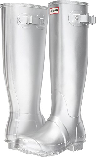 (Hunter Women's Original Tall Wellington Boots, Silver - 11)