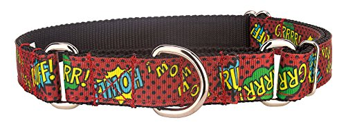 Country Brook Design Red Super Dog Ribbon Martingale Collar - ()