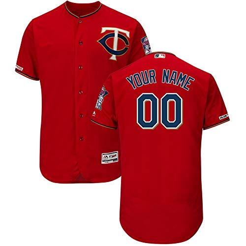 Minnesota Mens Jerseys Twins - Nisaki Custom Baseball & Softball Sports Jersey,Personalized Baseball Sports Fan Jersey,Avaiable for Mens/Womens/Youth - Custom Button Mesh Embroidered Baseball Jersey